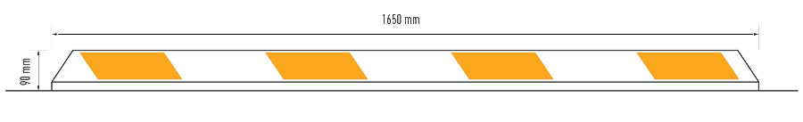 AS2890 Wheel Stop Dimensions