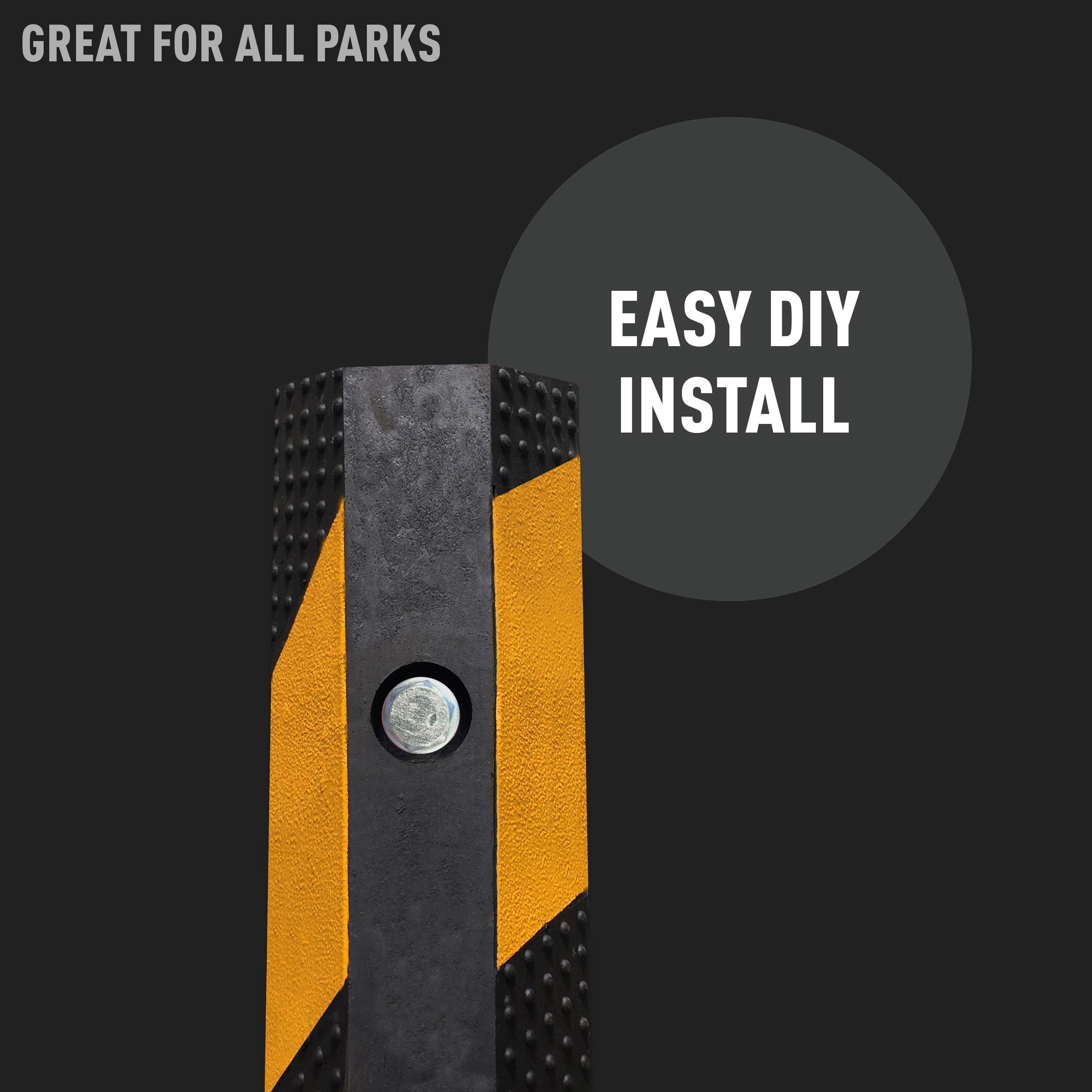 Black Wheel Stops - Easy DIY Install