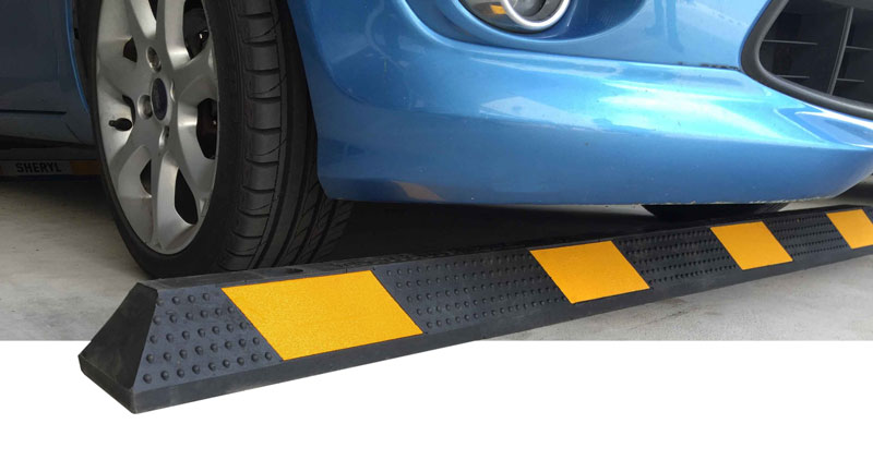 Rubber wheel stops for car parking