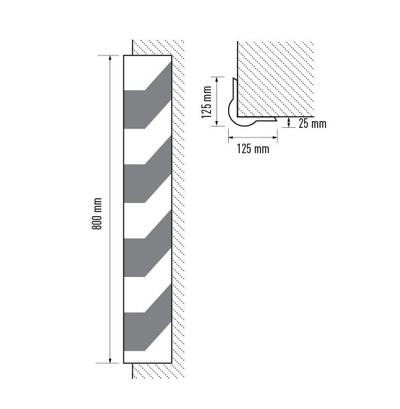 Rubber corner guard dimensions